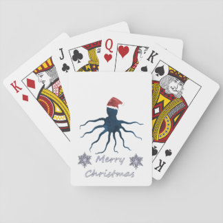 Christmas Octopus Playing Cards