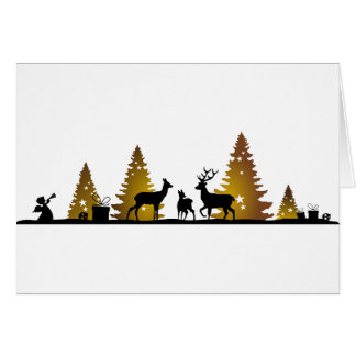 Christmas of deer card