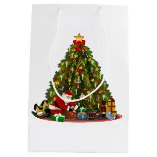 Christmas of yesteryear medium gift bag