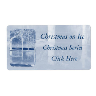 Christmas on Ice Gift Tags Shipping Label