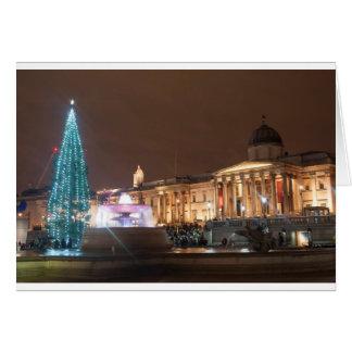 Christmas on Trafalgar Square, London Card