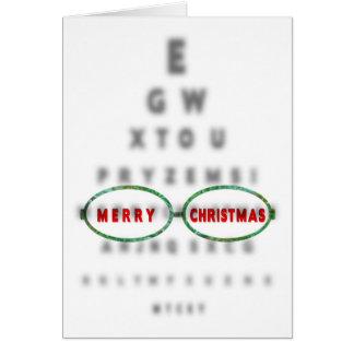 CHRISTMAS - Optometrist's - EYE CHART Card