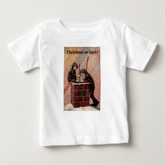 Christmas Or Bust, Boy Chimney Sweep Antique Photo Baby T-Shirt