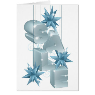 Christmas or New Year Sale Ornaments Greeting Cards
