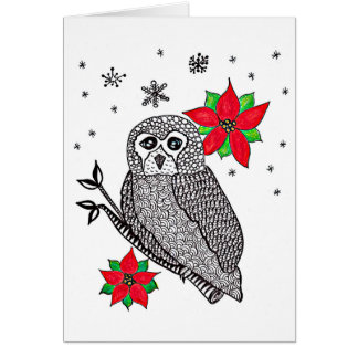 Christmas or Winter Owl Card