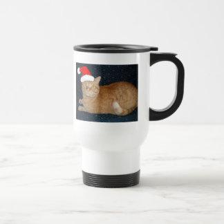 Christmas Orange Tabby Cat Mugs