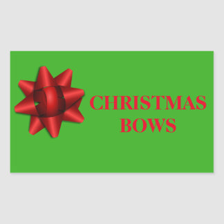 Christmas Organizing Labels - Bows