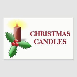 Christmas Organizing Labels - Candles