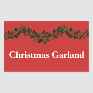 Christmas Organizing Labels - Garland