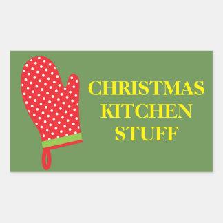 Christmas Organizing Labels - Kitchen