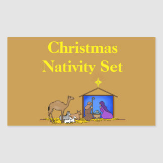 Christmas Organizing Labels - Nativity Set