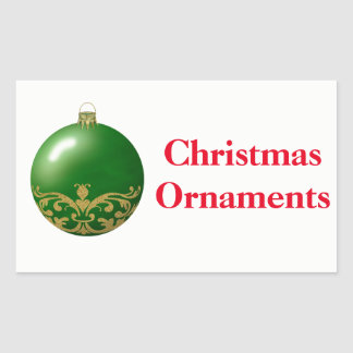 Christmas Organizing Labels - Ornaments