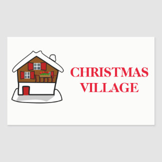 Christmas Organizing Labels - Village