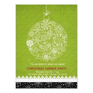 Christmas Ornament 14 Cm X 19 Cm Invitation Card