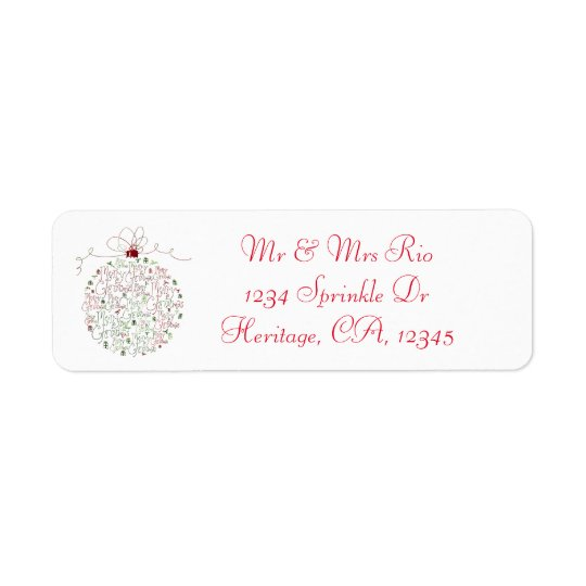 Christmas Ornament Address Label