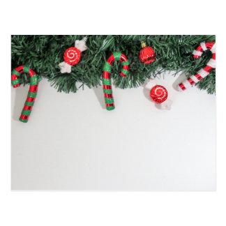 Christmas ornament candy postcard