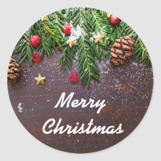 christmas-ornament classic round sticker