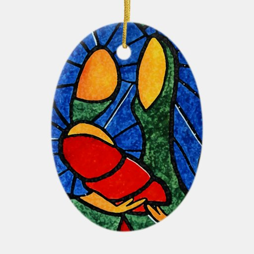 Christmas Ornament Colorful Abstract Holy Family