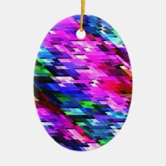 Christmas Ornament Colorful Graphic Spectrum Decor