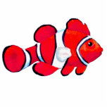 Christmas Ornament Fish Red Cut Out