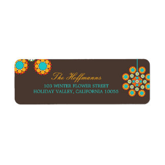 Christmas Ornament Flower Holiday Address Labels