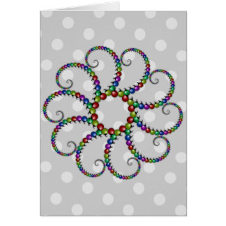 Christmas Ornament Fractal #1 Card