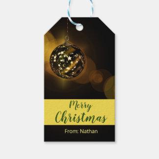 Christmas ornament gift tag brown