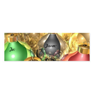Christmas Ornament Gift Tags Business Cards