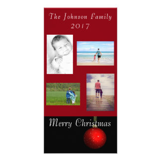Christmas Ornament Greeting Red Personalise It Card