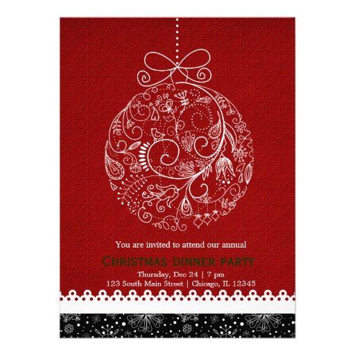 Christmas Ornament Custom Invitation