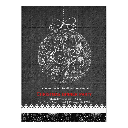 Christmas Ornament Custom Invites