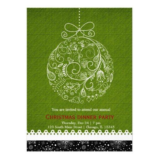 Christmas Ornament Custom Invite