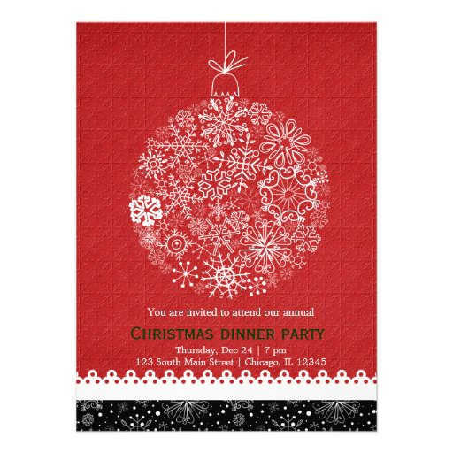 Christmas Ornament Custom Announcement