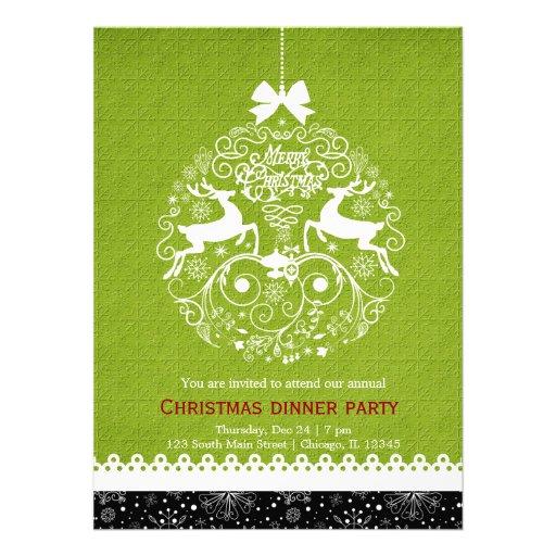 Christmas Ornament Personalized Invite