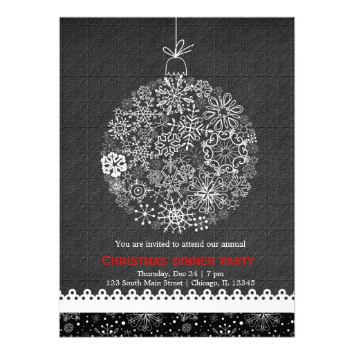 Christmas Ornament Personalized Invitations