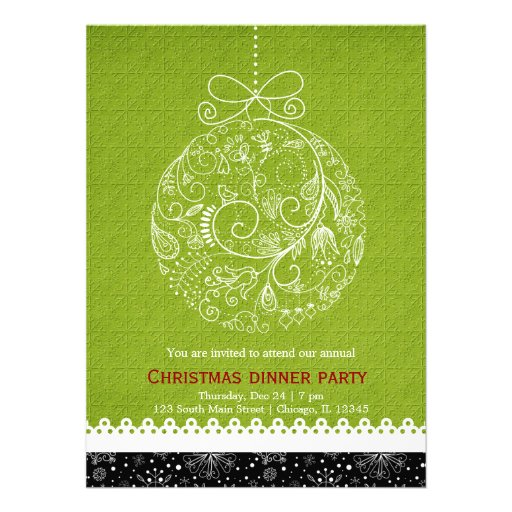 Christmas Ornament Personalized Announcements