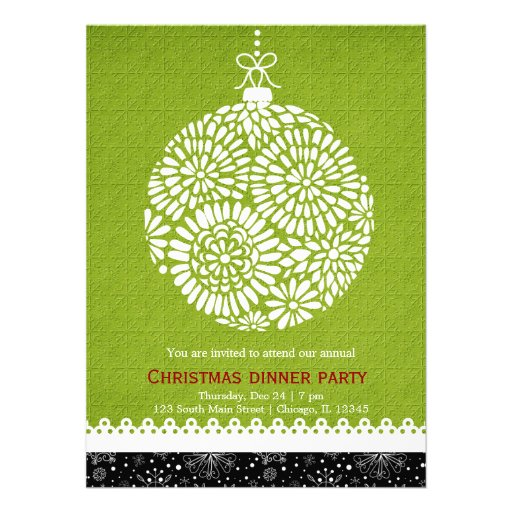 Christmas Ornament Invites