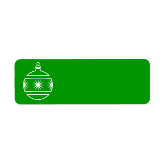 Christmas Ornament Label