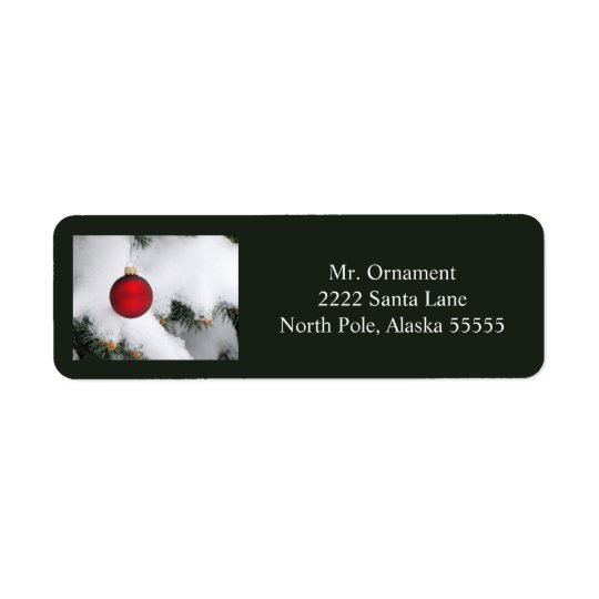 Christmas ornament label 3 2016 return address label