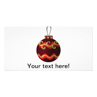 Christmas ornament picture card