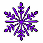 Christmas Ornament Snowflake 1 Purple Photo Cut Outs