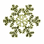 Christmas Ornament Snowflake 2 Yellow Photo Cut Outs