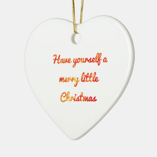 Christmas ornament with a message