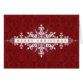 Christmas Ornamental Frame Card