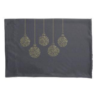 Christmas ornamental line golden ornaments pillowcase