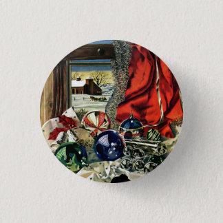 Christmas Ornaments 3 Cm Round Badge