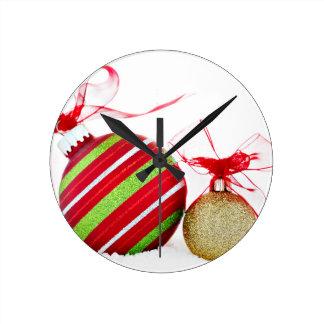 Christmas Ornaments Balls Contemporary Wall Clocks
