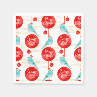Christmas ornaments & birds disposable napkin