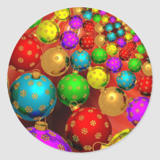 Christmas ornaments classic round sticker