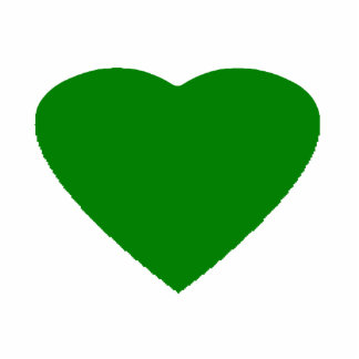 Christmas Ornaments Heart Green Photo Cut Outs